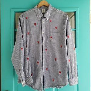 Brooks Brothers seersucker lobster shirt